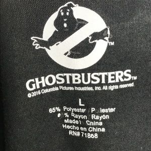 Ghostbusters Tops - Ghostbusters Black Muscle Tank Top A020476